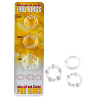 Ultra-Soft and Stretchy Pro Rings, Clear
