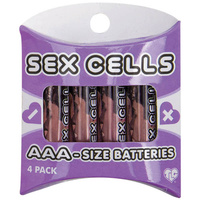 Sex Cells AAA-Size Batteries, 4 Pack