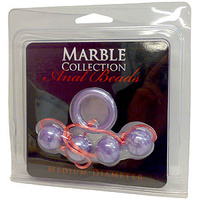 Marble Collection Anal Beads - Medium, Purple