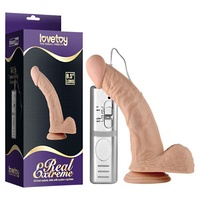 Real Extreme Vibrating Dildo - 8.5'' Flesh