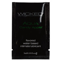 Wicked AQUA CANDY APPLE PACKETTE -  Lube 3ml