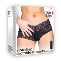 Adam & Eve Vibrating Crotchless Panty