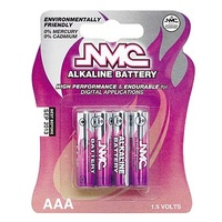 NMC Branded 8 Pack AAA Alkaline Battery's Carded