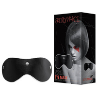 BAD ROMANCE Leather Black-White Eye Mask