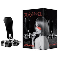 BAD ROMANCE Leather Black Neck/Wrist Restraint