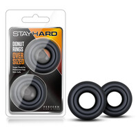 Stay Hard Donut Rings Oversized - Black