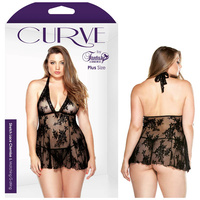 CURVE CLAUDIA Lace Chemise & G-String - 3X/4X