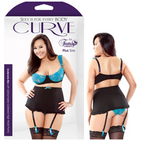 CURVE CAMILLE Lace Bra & High Waist Panty - 1X/2X