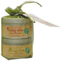 SS Candle Gift Set- Pomegranate/Green Tea, 2x4oz