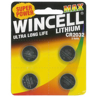 Wincell CR2032 Lithium - 4 Pack