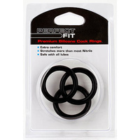 Perfect Fit Silicone 3 Ring Set - XL Black