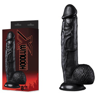 Hoodlum X 8'' Dong + Suction Cup - Black