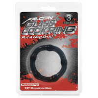 Falcon Glass Cockring 45mm, Black