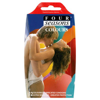 Four Seasons Coloured Condoms 12's