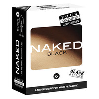 Four Seasons Naked Black Condoms 6's