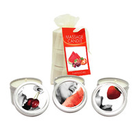 EB Edible Heart Massage Candles Threesome - 3 Pack