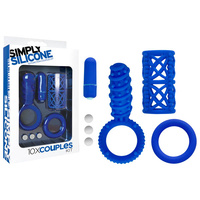 Simply Silicone 10X Couples Kit, Blue