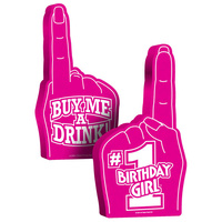 #1 Birthday Girl Foam Hand