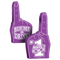 #1 Maid of Honor Foam Hand