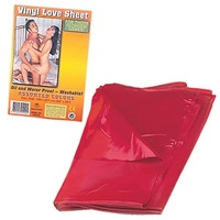 Red Latex Vinyl Love Sheet