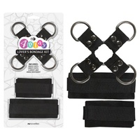 4Play Lovers Bondage Kit - Black