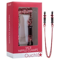 OUCH! Vice Nipple Clamps - Red