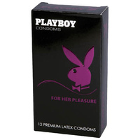 Playboy Condoms For Her Pleasure - 12 Pack