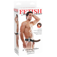 FFS 8'' Vibrating Hollow Strap-On - Brown
