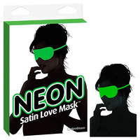 Neon Satin Love Mask - Green