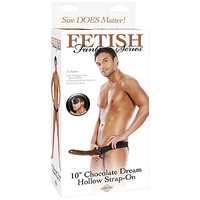 FFS 10'' Chocolate Dream Hollow Strap-On