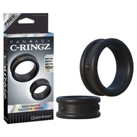 FCR Max-Width Silicone Rings - Black