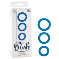 Posh Silicone Love Rings - Blue