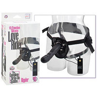 10-Function Silicone Love Rider Rippler - Black
