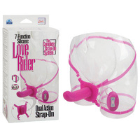 7-F Love Rider Dual Action Strap-On - Pink