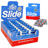 Slide Condoms CLASSIC Display (24 x 6 pkts)