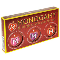 Monogamy Small Massage Candles - 3 Pack