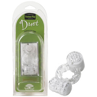 Vibratex Duet Cock Ring - Clear