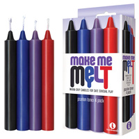 The 9's Make Me Melt Drip Candles 4-Pk, Passion